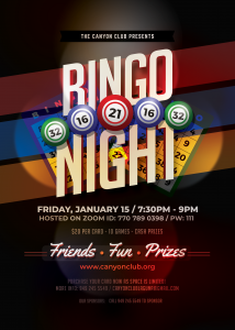 Canyon Club Presents Bingo Night!